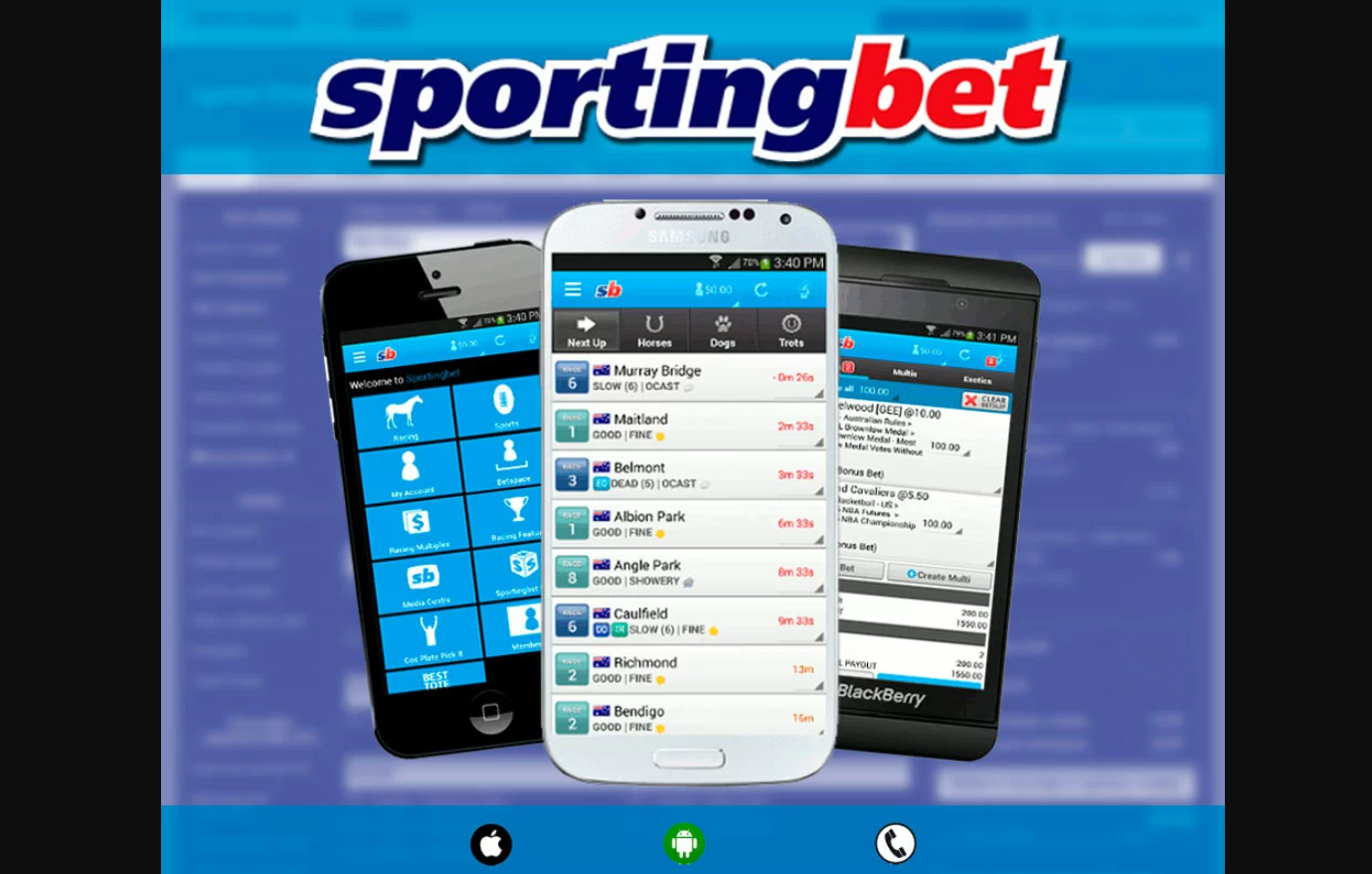 Sportingbet mobile за Android информация